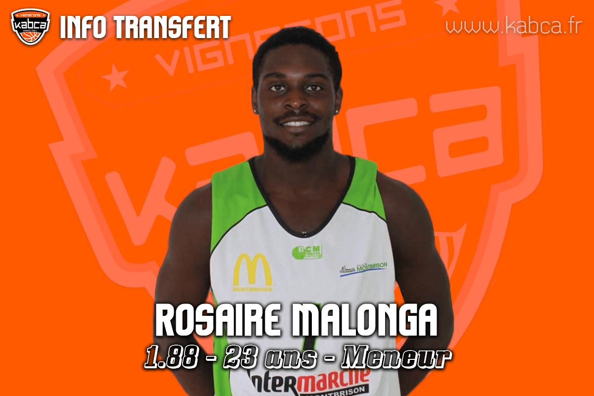 Rosaire MALONGA rejoint le KABCA pour la saison 2019/20.