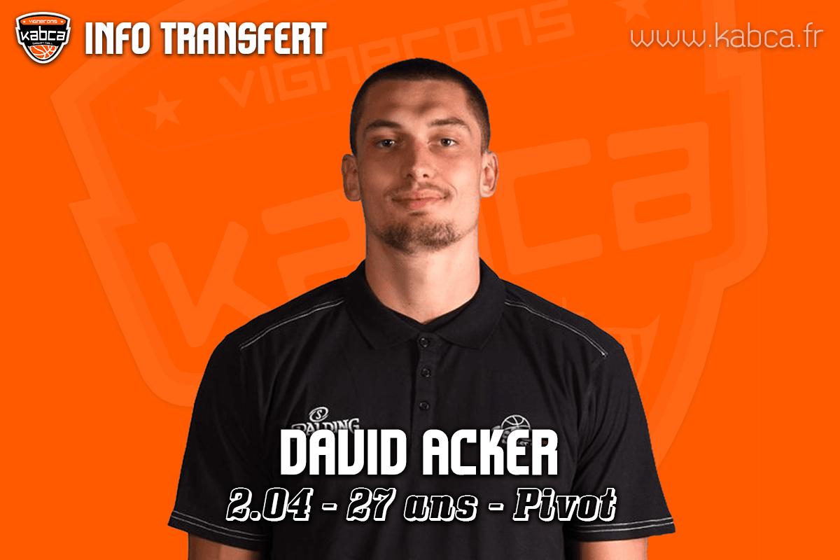 David ACKER rejoint le KABCA pour la saison 2019/20.