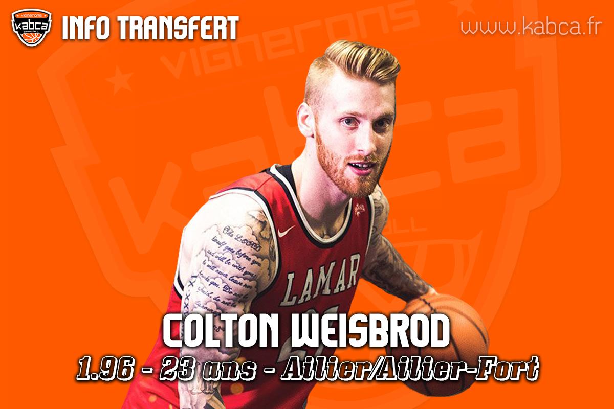 Colton WEISBROD rejoint le KABCA pour la saison 2019/20.